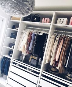 Closet Organization Ideas - Organize your closet for much less with these DIY organization as well as storage space ideas. A lot of these closet organization ideas are terrific for tiny wardrobes . Pax Closet, Closet Vanity, Ikea Closet, Wardrobe Closet, Closet Space, Walk In Closet, Bathroom Closet, Attic Closet, Organiser Son Dressing
