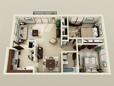 small 2 bedroom house plans small two bedroom house plans south africa 2 Bedroom House Plans, New House Plans, Modern House Plans, Small House Plans, 2bhk House Plan, Apartment Layout, Apartment Design, Apartment Ideas, Apartment Goals