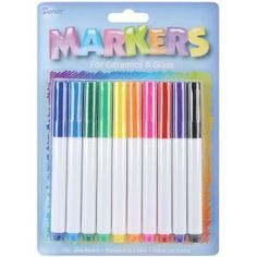 Glass Markers 10/Pkg - Assorted Colors