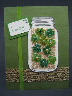 Lucky Four-Leaf Clovers Card     ETSY Shop: http://www.etsy.com/shop/SimplyShryerCards