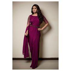 Keerthy Suresh Cute Pics In Saree Indian Fashion Dresses, Indian Outfits, Designer Sarees Wedding, Saree Wedding, Saree Poses, Tamil Actress Photos, Saree Look, Plus Size Maxi Dresses, Dressy Dresses