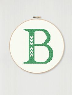This Cross stitch letter B pattern with chevron detail instant is just one of the custom, handmade pieces you'll find in our craft supplies & tools shops. Counted Cross Stitch Patterns, Cross Stitch Embroidery, Cross Stitch Letters, Letter B, Alphabet And Numbers, Monogram Letters, Le Point, Pattern Making, Cross Stitching