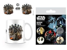 Set Star Wars Rogue One Death Trooper Profile Photo Coffee Mug 4x3 inches And 1 Star Wars Badge Pack 6x4 inches *** Find out more about the great product at the image link.