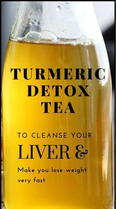 Turmeric Detox Tea To Cleanse Your Liver And Lose weight Very Fast - Fa. Powerful Turmeric Detox Tea To Cleanse Your Liver And Lose weight Very Fast - Fa. Powerful Turmeric Detox Tea To Cleanse Your Liver And Lose weight Very Fast - Fa. Healthy Detox, Healthy Drinks, Easy Detox, Healthy Water, Healthy Eating, Vegan Detox, Healthy Foods, Fat Foods, Clean Eating
