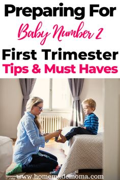 Baby Number 2 - What to do in first trimester of second pregnancy. Tips on things you need to get done and must hav - Pregnancy Must Haves, Second Pregnancy, Trimesters Of Pregnancy, Baby Must Haves, Pregnancy Tips, Early Pregnancy, 2nd One, Second Baby, First Baby