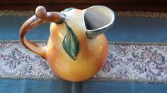 Jug Pitcher Porcelain made in Italy Brilliant by RareEarthProducts, $26.00