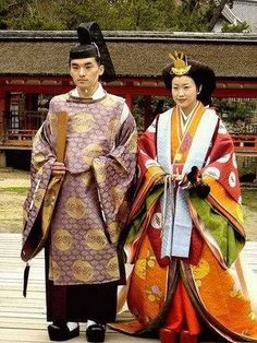VERY traditional Japanese wedding depicting members of the royal court.