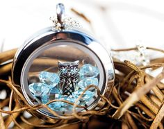 Whoo wouldn't love this? Each Living Locket is customizable with interchangeable charms, hand-stamped plates, dangles, tags, and chains selected by you! You tell stories with words. We tell stories with jewelry. What's your story?  Meryn Gruhn Di Tullio  Independent Designer #18359 http://idesign.origamiowl.com  idesignteam@ymail.com