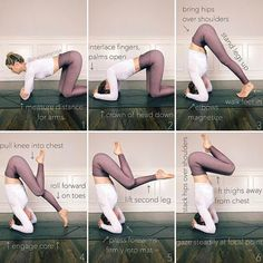 Image result for forearm stand with knee to chest