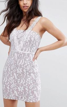 Pretty Little Thing Lace Pencil A-line Mini Dress White Light Purple - Size 14 in Clothing, Shoes, Accessories, Women's Clothing, Dresses Light Purple, White Light, Dressy Dresses, White Mini Dress, Little Things, Pretty Little, Size 14, Pencil, Clothes For Women