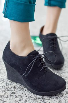 Buy Womens High-heeled Shoes Leather Quality Wedges Platform (Black) online at Lazada. Discount prices and promotional sale on all. Free Shipping.