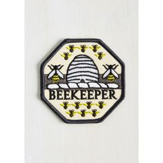 Critters Keeper of Bees Patch (€12) ❤ liked on Polyvore featuring jewelry, brooches, bee brooch, bumble bee jewelry, bee jewelry, bumble bee brooch and honey bee jewelry