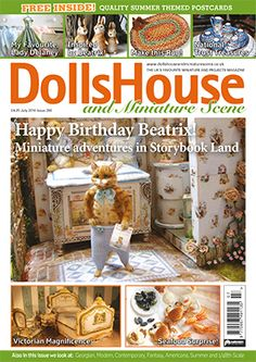 July 2016 issue of Dolls House and Miniature Scene - find out more at https://www.hobbies-and-crafts.co.uk/dolls-houses-miniatures/store/latest-issue/