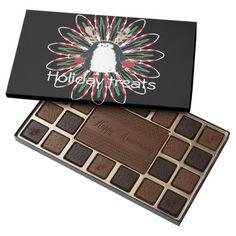 cute penguin holiday treats chocolate box 45 piece assorted chocolate box