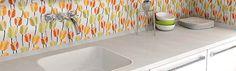 kitchen tile flowers