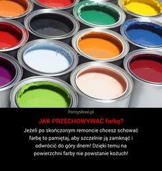 Jeżeli po skończonym remoncie chcesz schować farbę to pamiętaj, aby szczelnie ją zamknąć i odwrócić do góry dnem! Dzięki temu ...