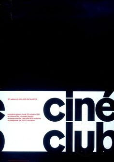Roger-Virgil Geiser, design — ciné club (1961)