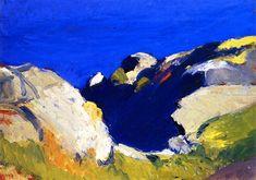 The Athenaeum - Rocks and Sea (Edward Hopper - 1916-1919)