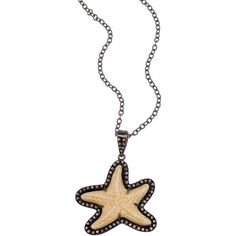 Haridra Bone Rani Starfish Necklace (805 CAD) ❤ liked on Polyvore featuring jewelry, necklaces, fine jewelrynecklaces, starfish necklace, star fish necklace, starfish jewelry y star fish jewelry