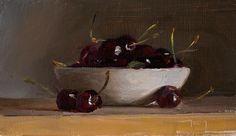 Daily painting Postcard from Provence, a painting a day by Julian Merrow-Smith; paintings fresh daily from the British painter's studio in Provence Painters Studio, Daily Painters, Still Life Oil Painting, Food Painting, Fruit Art, White Bowl, Provence, Berries, Projects To Try