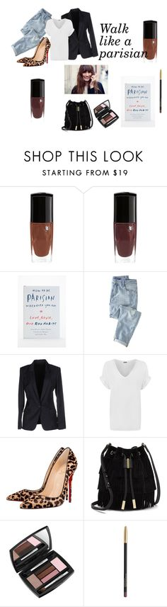 #parisian#fashion by slounis on Polyvore featuring moda, WearAll, Acne Studios, Wrap, Christian Louboutin, Vince Camuto, Lancôme and Chanel