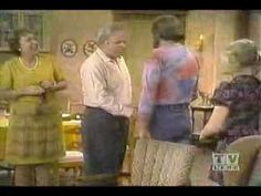 All in the Family - Archie meets Meathead. Funny in SO many ways. My Pap Pap loved this show and now I see why! Archie Bunker, All In The Family, Do You Remember, Tv Videos, Movies Showing, Then And Now, Back In The Day, Popcorn, Comedy