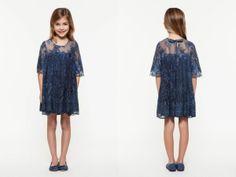 @Twin-Set Simona Barbieri Girl Spring Summer 2014, blue lace dress #blue #twinset #twinsetgirl #SS14 #spring #summer #springsummer2014 #childrens #kids #childrenswear #kidswear #kidsfashion #girls