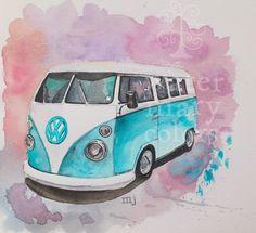 Furgoneta volkswagen I marijoepintora.blogspot.com