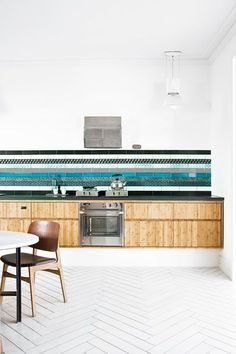 love the different striped tiles