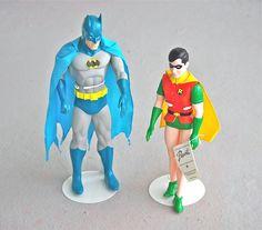 {Vintage Batman and Robin Figures} holy dynamic due, Batman!