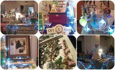 Event, Market, Fair, display #emeraldinceptions #stall #fairylights #artisan #craft #display #table #vintagedisplay #vintagejewelry