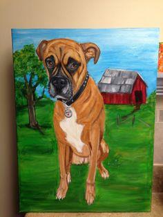 18x24 Custom Pet Portrait, Hand Painted