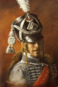 French - Officer of the 3rd Hussars.  *He bears a striking resemblance to Lt. Armand d'Hubert (Kieth Carradine in The Duellists 1977).