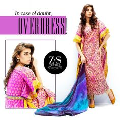 All the wear stuff present in this collection is of three piece suits of women kameez shalwar and dupatta. These women shirts and kameez have beautiful and stunning floral prints on...More Picyures and detail at http://www.newfashioncorner.com/zs-textiles-women-casual-wintersummer-collection-2014/