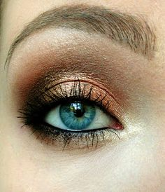 Bronze brown look - perfect for blue eyes!