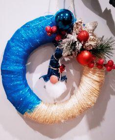 4th Of July Wreath, Hanukkah, Wreaths, Home Decor, Christmas Ornaments, Decoration Home, Door Wreaths, Room Decor, Deco Mesh Wreaths