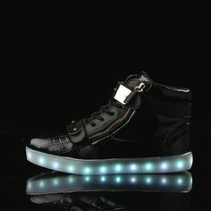 A3026 Black Led For Shoes Zipper For Sale - Flashing.Shoes - 1