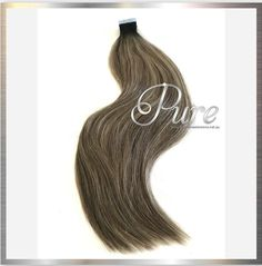 Darkest Brown Roots To Light Brown Short Root Fade Balayage / Ombre Tape Ash Blonde Hair Extensions, Ash Blonde Ombre Hair, Blonde Foils, Best Ombre Hair, Tape In Hair Extensions, Caramel Ombre, Fresh Hair, Brown Balayage, Luxury Hair