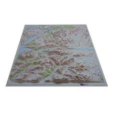 Unframed Ben Nevis and Glen Coe Relief Map