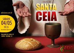 Divulgação digital para culto de santa Ceia da Ad Criciúma.