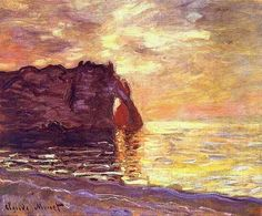 Claude Monet Etretat at the end of the day 1885