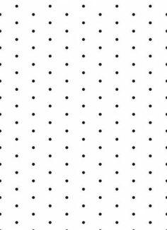 Papel de parede poá com fundo branco e bolinhas pretas