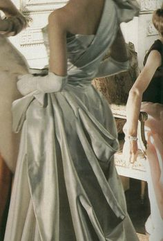 Details of a Charles James gown photographed by Cecil Beaton c. 1948.