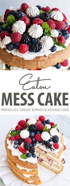 #Food #drinks #cake #Recipe >>> Eton Mess Cake - Recipes