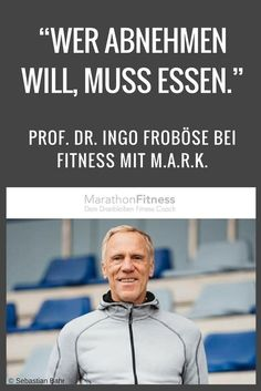 Ingo Froböse ( is one of the most sought after experts on sport and fitness in Germany. The former German runner-up in the 100 meter sprint has written numerous books on health, nutrition and fitness. Fitness Workouts, Gewichtsverlust Motivation, Sport Fitness, Health Diet, Health And Nutrition, Health And Wellness, Health Fitness, Best Weight Loss, Weight Loss Tips