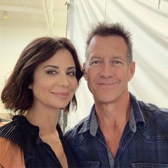 """Catherine Bell on Instagram: """"Look who I found! 💗 #jamesdenton photo shoot today in LA for Good Witch season 6!! ✨✨✨"""" The Witch Film, The Good Witch Series, Cathrine Bell, Hallmark Good Witch, Lisa Bell, James Denton, Teri Hatcher, Hallmark Channel, Book Projects"""