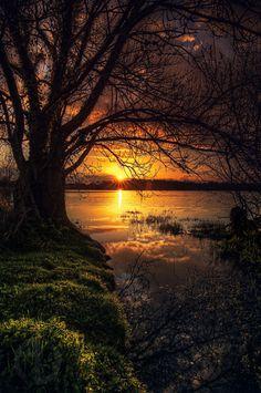 lac de beaulieu - Coucher de soleil sur le lac de Beaulieu