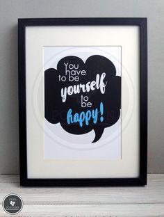 Kunstdruck | Be YOURSELF von Pens N' Popcorn auf DaWanda.com