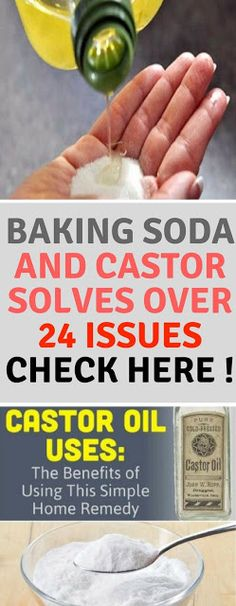 Baking Soda and Castor Solves over 24 Issues Check here !