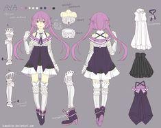 Aya character sheet by kumashige.deviantart.com on @deviantART